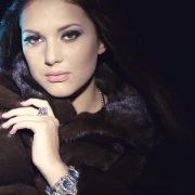 Fashion Model Girl Fur Coat